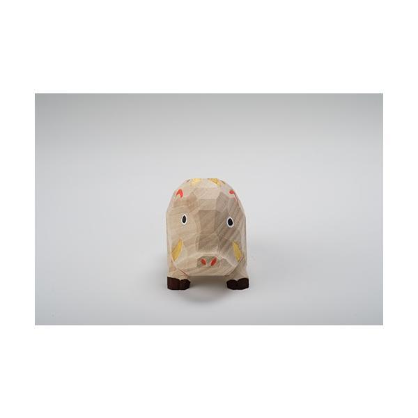 干支置物「亥」(いのしし)大サイズ/奈良一刀彫/楠/人形/猪/イノシシ/いのしし/亥|ikkisya|02