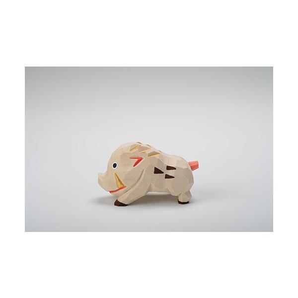 干支置物「亥」(いのしし)小サイズ/奈良一刀彫/楠/人形/猪/イノシシ/いのしし/亥|ikkisya|02