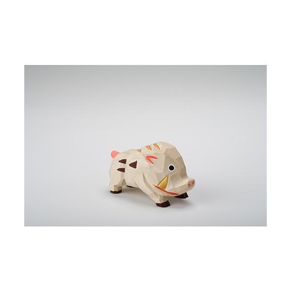 干支置物「亥」(いのしし)小サイズ/奈良一刀彫/楠/人形/猪/イノシシ/いのしし/亥|ikkisya|03