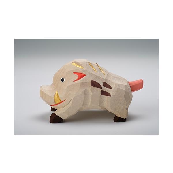 干支置物「亥」(いのしし)特大サイズ/奈良一刀彫/楠/人形/猪/イノシシ/いのしし/亥|ikkisya|05