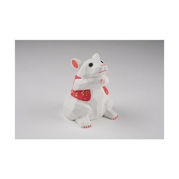 干支置物「子」ねずみ(白)大サイズ/奈良一刀彫/楠/人形/白/ネズミ/ねずみ/鼠/子|ikkisya|05
