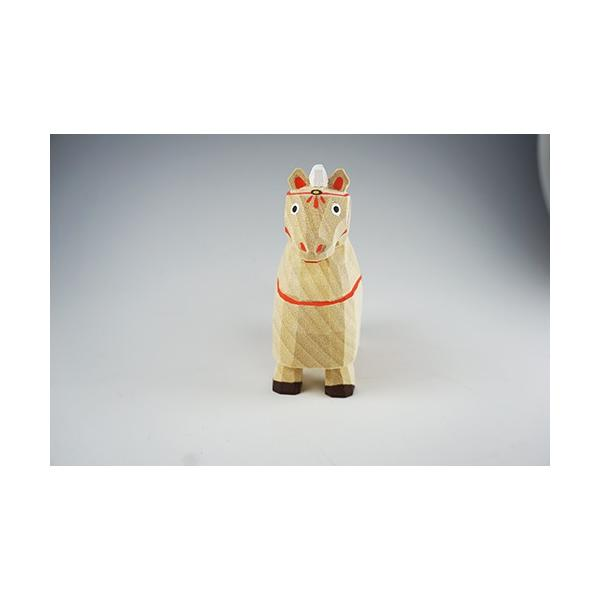 干支置物「午」(うま)大サイズ/奈良一刀彫/楠/人形/ウマ/うま/午|ikkisya