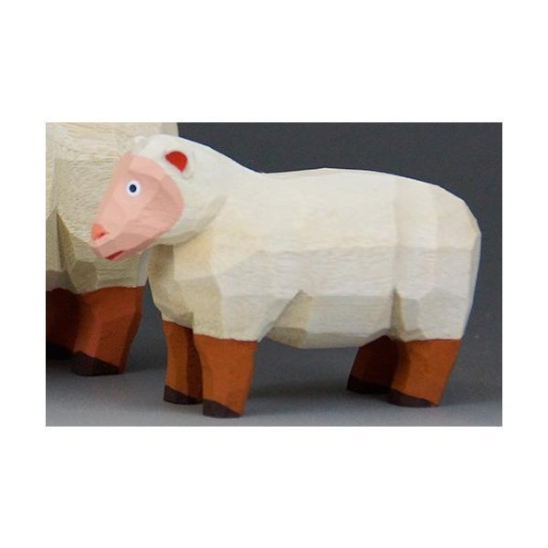 干支置物「羊」(ひつじ)ミニ(小)/奈良一刀彫/楠/人形/ヒツジ/ひつじ/羊|ikkisya