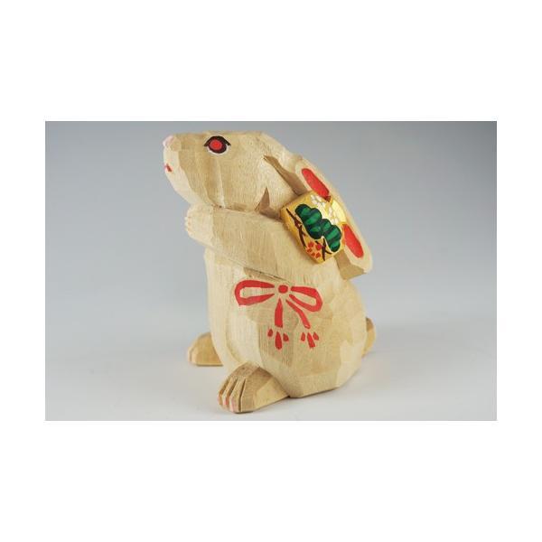 干支置物「卯」(うさぎ)小サイズ/奈良一刀彫/楠/人形/ウサギ/うさぎ/卯|ikkisya|02