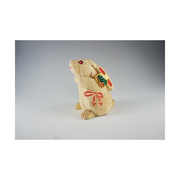 干支置物「卯」(うさぎ)小サイズ/奈良一刀彫/楠/人形/ウサギ/うさぎ/卯|ikkisya|03
