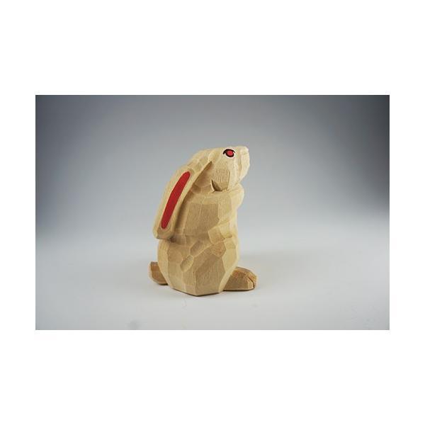 干支置物「卯」(うさぎ)小サイズ/奈良一刀彫/楠/人形/ウサギ/うさぎ/卯|ikkisya|04
