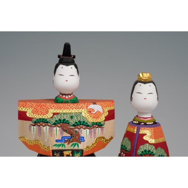 雛人形「あきしの」5号サイズ/一刀彫/奈良/立雛/ひな人形|ikkisya|02