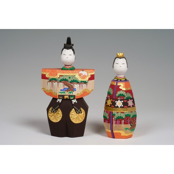 雛人形「あきしの」6号サイズ/一刀彫/奈良/立雛/ひな人形|ikkisya