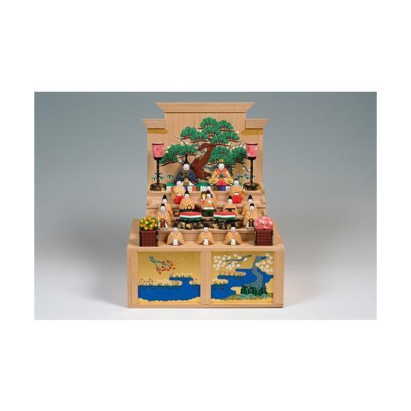 雛人形「五段飾雛」中サイズ/一刀彫/奈良/十五人飾り/ひな人形|ikkisya