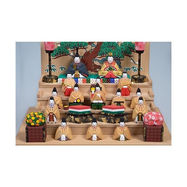 雛人形「五段飾雛」小サイズ/一刀彫/奈良/十五人飾り/ひな人形|ikkisya|05