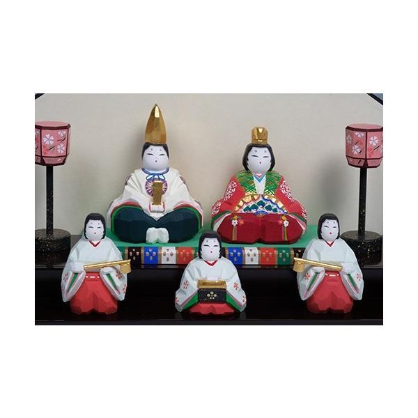 雛人形「初音」/一刀彫/奈良/五人飾り/ひな人形|ikkisya|02