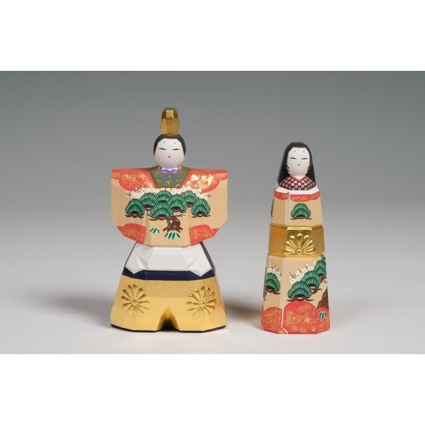 雛人形「かぎろい」3.5号サイズ/一刀彫/奈良/立雛/ひな人形 ikkisya