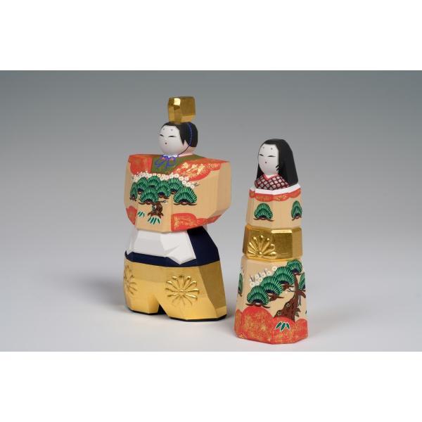 雛人形「かぎろい」3.5号サイズ/一刀彫/奈良/立雛/ひな人形 ikkisya 02