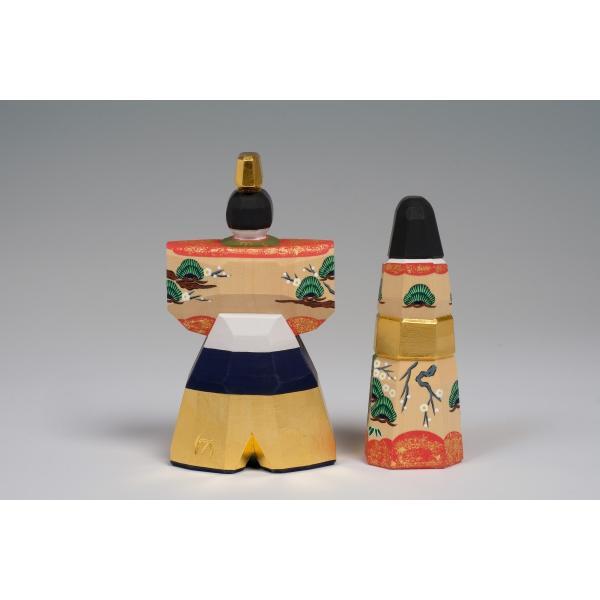 雛人形「かぎろい」3.5号サイズ/一刀彫/奈良/立雛/ひな人形 ikkisya 03