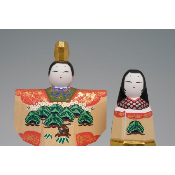 雛人形「かぎろい」3.5号サイズ/一刀彫/奈良/立雛/ひな人形 ikkisya 04