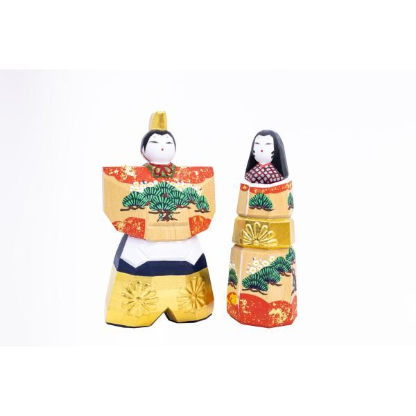 雛人形「かぎろい」5号サイズ/一刀彫/奈良/立雛/ひな人形|ikkisya