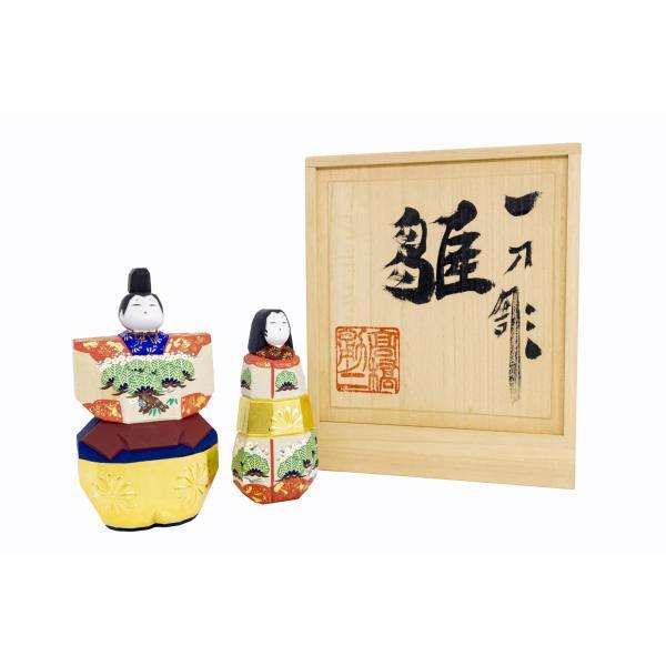 雛人形「まほろば」5号サイズ/一刀彫/奈良/立雛/ひな人形 ikkisya