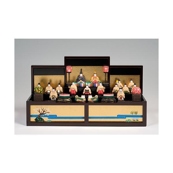 雛人形「段飾雛 うるわし」小サイズ/一刀彫/奈良/十五人飾り/ひな人形|ikkisya