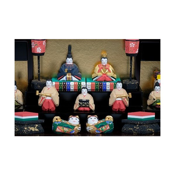 雛人形「段飾雛 うるわし」小サイズ/一刀彫/奈良/十五人飾り/ひな人形|ikkisya|02
