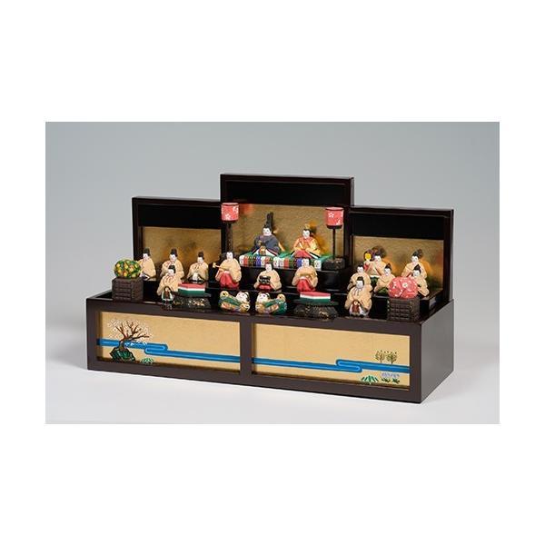 雛人形「段飾雛 うるわし」小サイズ/一刀彫/奈良/十五人飾り/ひな人形|ikkisya|03