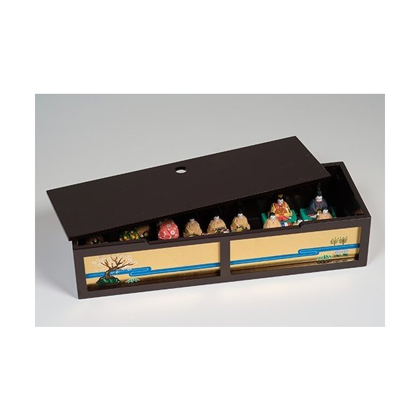 雛人形「段飾雛 うるわし」小サイズ/一刀彫/奈良/十五人飾り/ひな人形|ikkisya|04