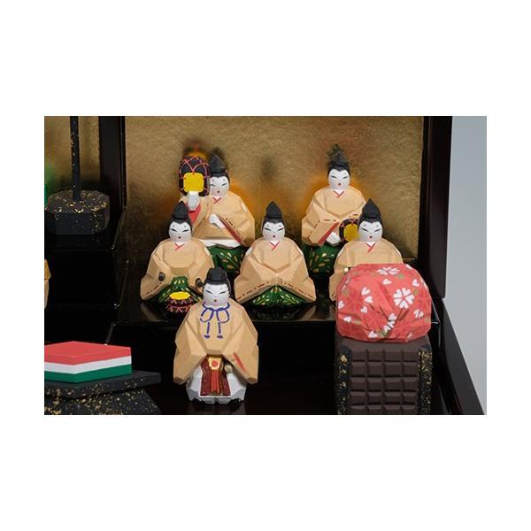 雛人形「段飾雛 うるわし」小サイズ/一刀彫/奈良/十五人飾り/ひな人形|ikkisya|05