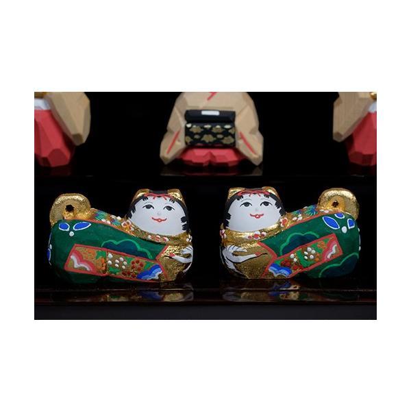 雛人形「段飾雛 うるわし」小サイズ/一刀彫/奈良/十五人飾り/ひな人形|ikkisya|07
