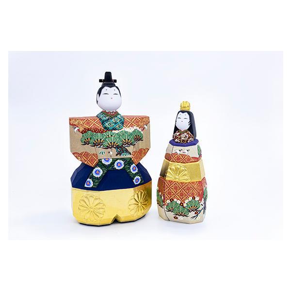 雛人形「山の辺」4号サイズ/一刀彫/奈良/立雛/ひな人形|ikkisya