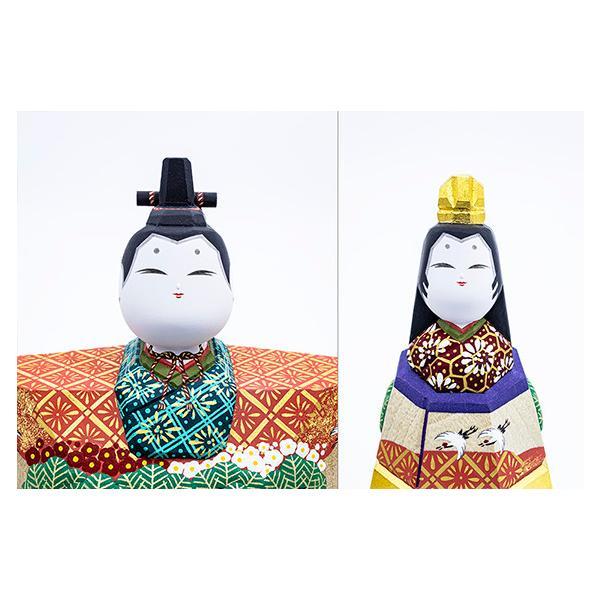 雛人形「山の辺」6号サイズ/一刀彫/奈良/立雛/ひな人形 ikkisya 02