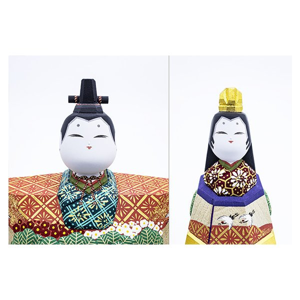 雛人形「山の辺」7号サイズ/一刀彫/奈良/立雛/ひな人形|ikkisya|02