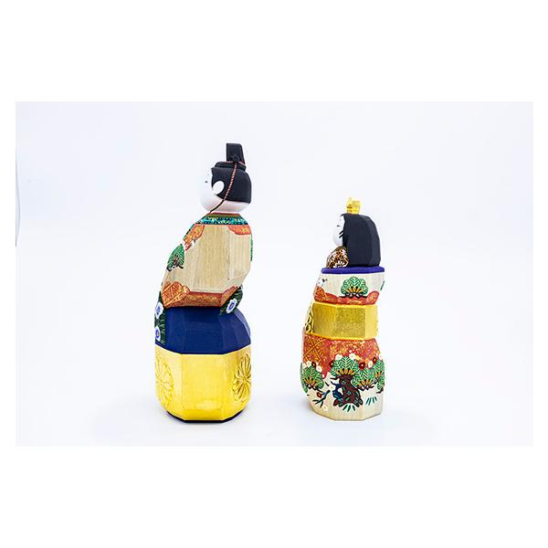 雛人形「山の辺」8号サイズ/一刀彫/奈良/立雛/ひな人形|ikkisya|03