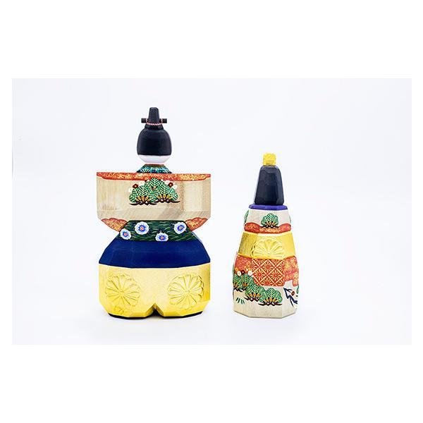 雛人形「山の辺」8号サイズ/一刀彫/奈良/立雛/ひな人形|ikkisya|04