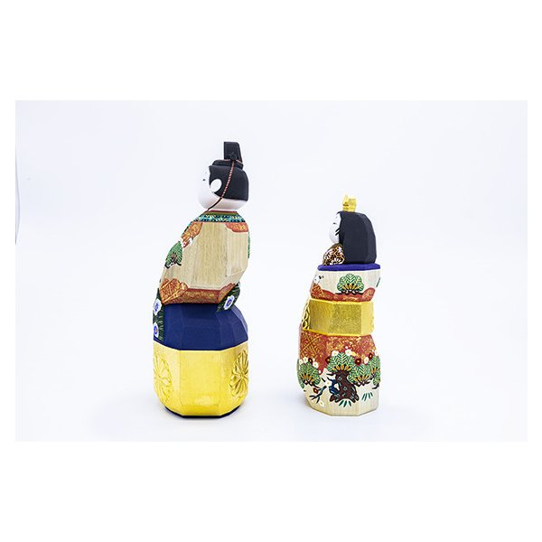 雛人形「山の辺」9号サイズ/一刀彫/奈良/立雛/ひな人形 ikkisya 03
