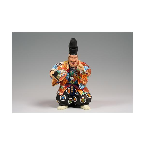 福の神(狂言) 中サイズ/奈良一刀彫/楠/木彫人形 ikkisya