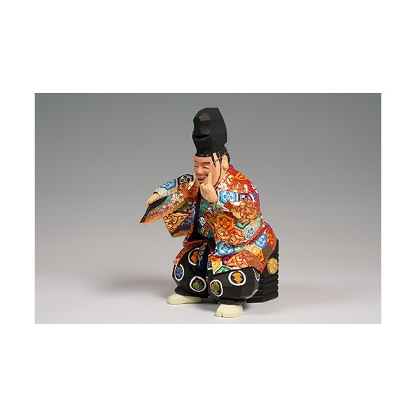福の神(狂言) 中サイズ/奈良一刀彫/楠/木彫人形 ikkisya 02
