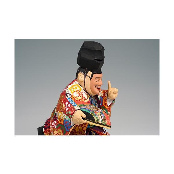 福の神(狂言) 中サイズ/奈良一刀彫/楠/木彫人形 ikkisya 06