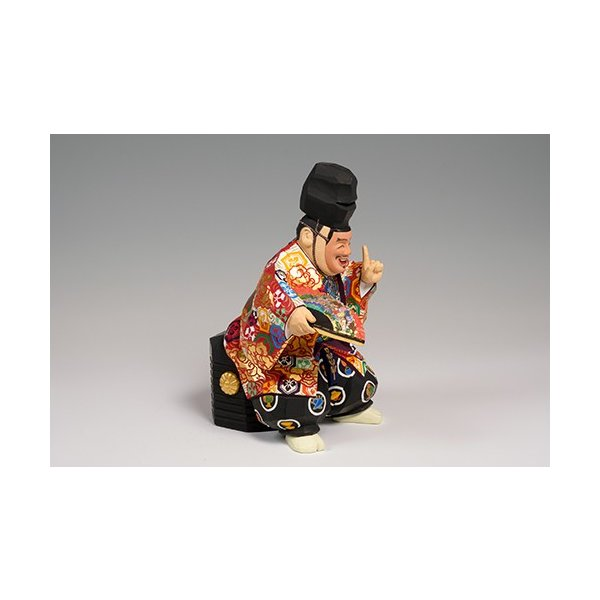 福の神(狂言) 特大サイズ/奈良一刀彫/楠/木彫人形|ikkisya|04