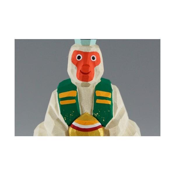 干支置物「申」大サイズ/奈良一刀彫/楠/人形/サル/さる/猿|ikkisya|02
