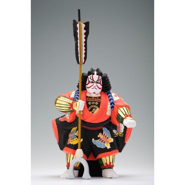 矢の根(歌舞伎)/奈良一刀彫/木彫人形/かぶき/やのね ikkisya
