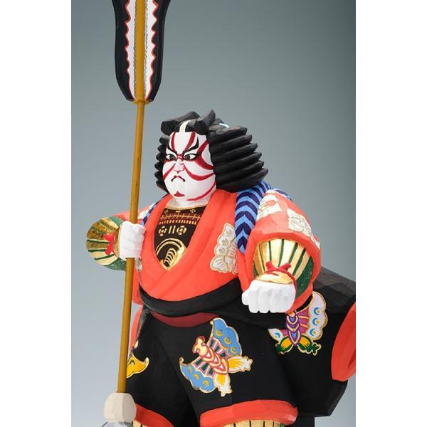 矢の根(歌舞伎)/奈良一刀彫/木彫人形/かぶき/やのね ikkisya 02
