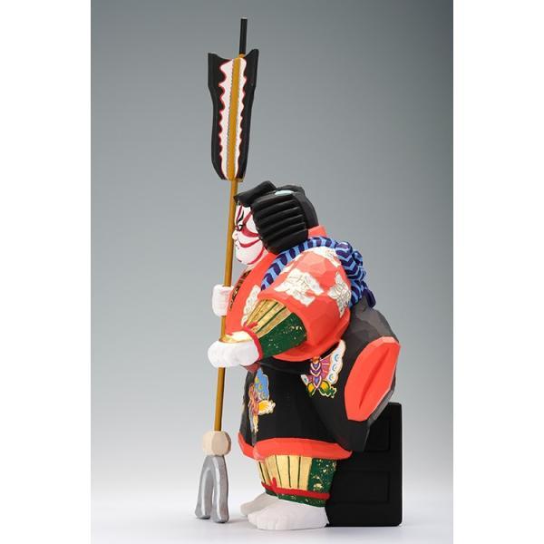 矢の根(歌舞伎)/奈良一刀彫/木彫人形/かぶき/やのね ikkisya 04