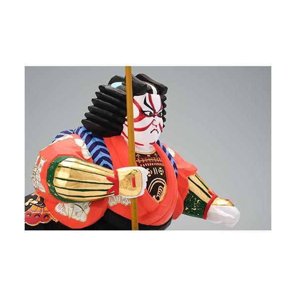 矢の根(歌舞伎)/奈良一刀彫/木彫人形/かぶき/やのね ikkisya 08