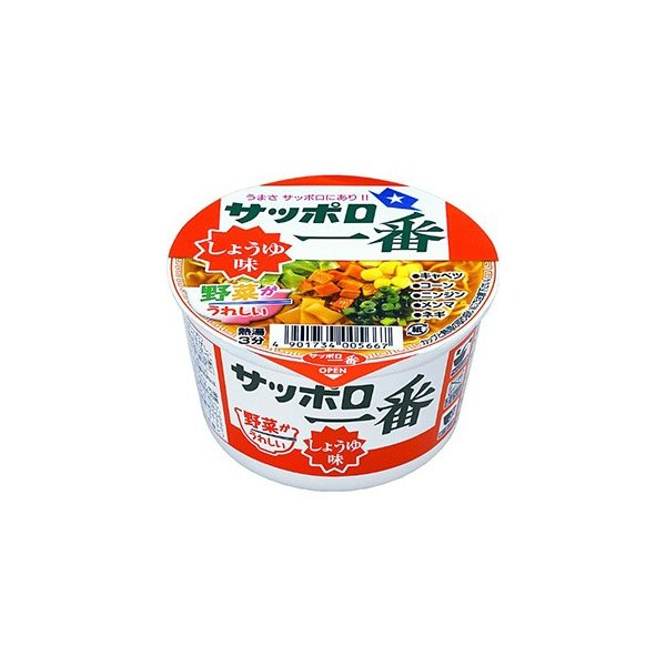 サンヨー食品 サッポロ一番 しょうゆ味ミニどんぶり 44g×12入