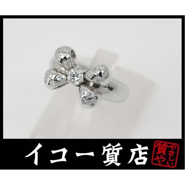 Pt900 ダイヤ0.228ct/0.151ct ファッションリング 13.5号 【中古】