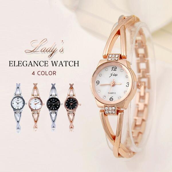 レディースウォッチ腕時計レディースレディース腕時計ウォッチエレガント上品高級感大人かわいいラインストーンブレスレット風おしゃれ