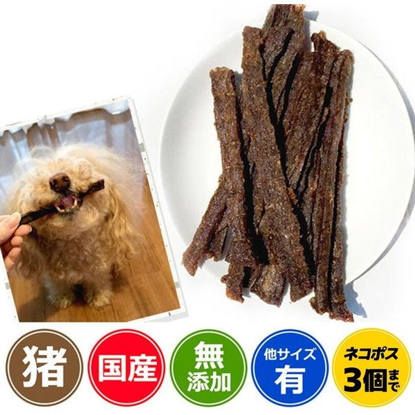 犬 おやつ 低脂肪 無添加  国産 丹波産 猪スティック 50g  イリオスマイル ポイント消化|iliosmile
