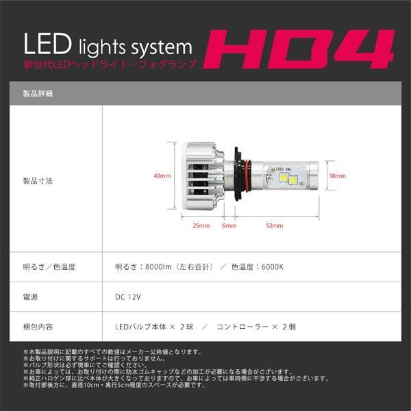 HB4 LED ヘッドライト LED フォグランプ 左右合計8000lm CREE チップ搭載 6000K 送料無料|illumi|04