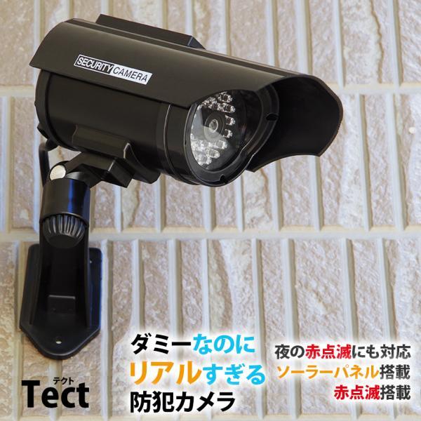 防犯カメラ ダミーカメラ ソーラー 電池交換不要 LED tect|illumi