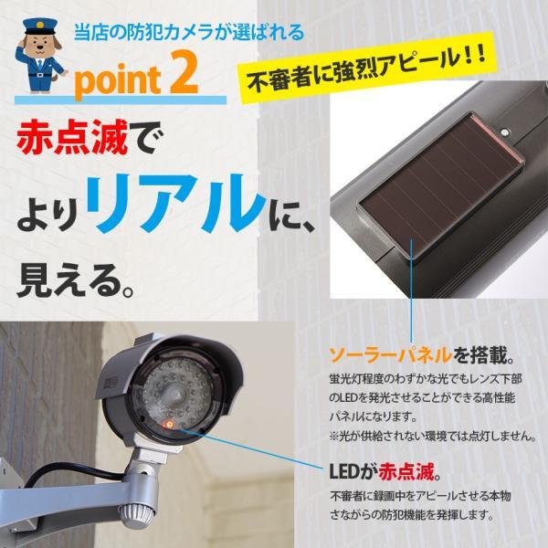 防犯カメラ ダミーカメラ ソーラー 電池交換不要 LED tect|illumi|06