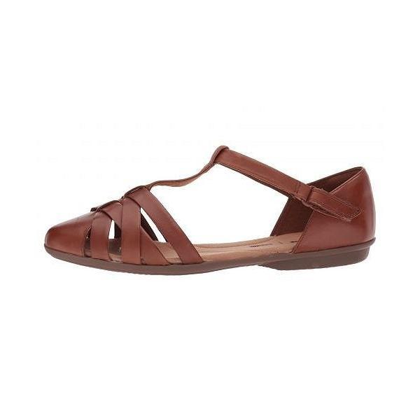 Clarks クラークス レディース 女性用 シューズ 靴 サンダル Gracelin Art - Dark Tan Leather